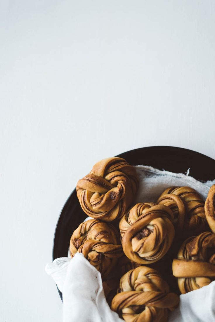 Vegan Swedish Buns made with Homemade Nutella