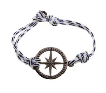 Handmade men`s bracelet compass made from black platinum silver 925o with navy cord - Χειροποίητο αντρικό βραχιόλι πυξίδα από ασήμι 925ο με μαύρο πλατίνωμα και ναυτικό κορδόνι @ http://www.theodorajewellery.com/jewel/gr/2130/