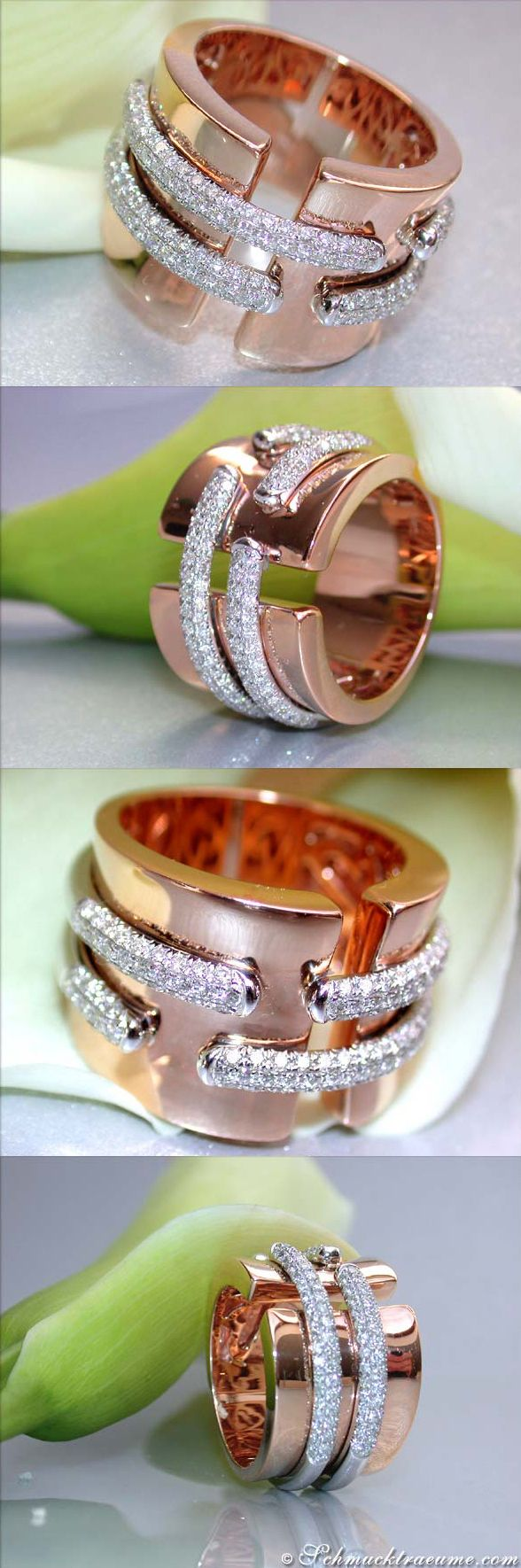 Terrific Diamond Ring, 1,05 ct.g-vsi RG18K - Visit: schmucktraeume.com - Like: https://www.facebook.com/pages/Noble-Juwelen/150871984924926 - Mail: info@schmucktraeume.com