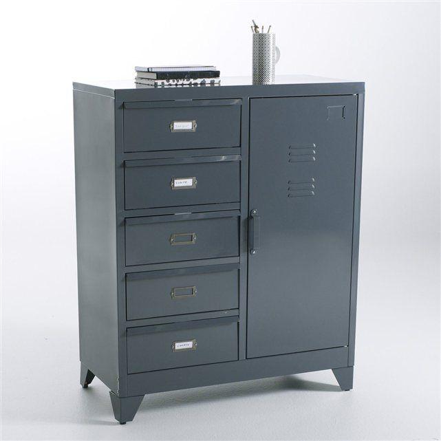 Bahut m tal hiba la redoute interieurs prix avis notation livraison d clin en 2 coloris - Prix d un congelateur tiroir ...