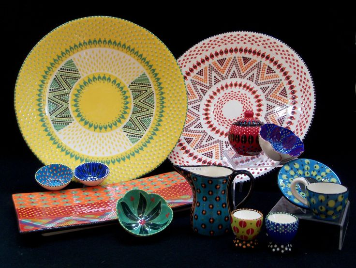 Potters Workshop. Bold African designs, great for every day use. ARTISAN GALLERY Email: info@artisan.co.za, Tel: +27 31 312 4364