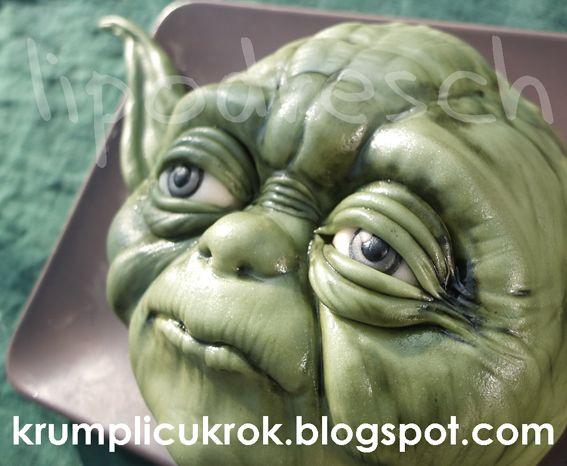 krumplicukrok: yoda cake tutorial