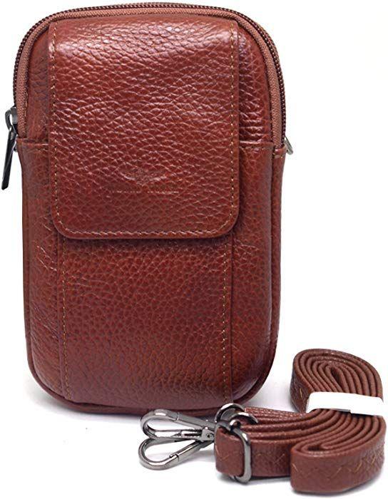 0d33d80a9c9 Amazon.com  Small Bag Waist Pack Messenger Bags Tactical Cellphone Phone  Pouch Leather Travel