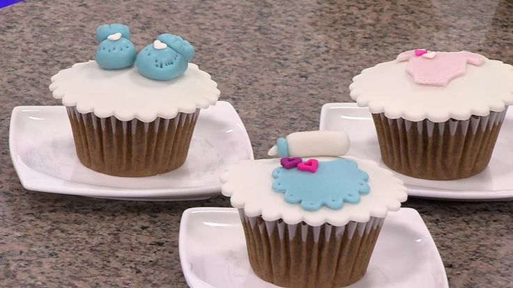 Cómo Decorar Cupacakes para Baby Shower- Hogar Tv  por Juan Gonzalo Angel