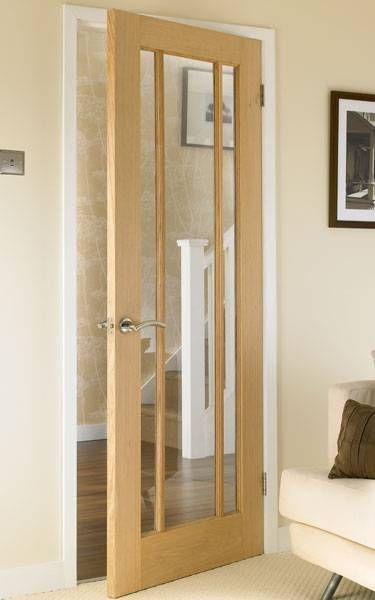 Worcester Oak Glazed Howdens Joinery House In 2019 Internal Glazed Doors Oak Doors Internal Doors
