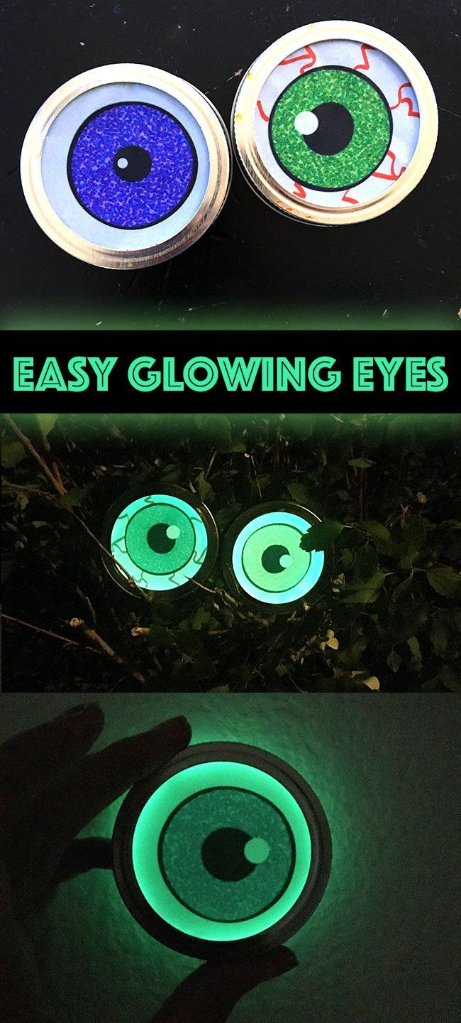 Easy Glowing eyes for Halloween