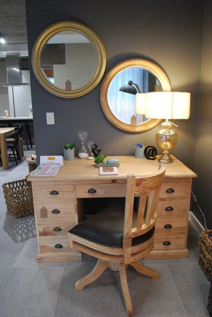 White Cedar desk with Swivel Chair