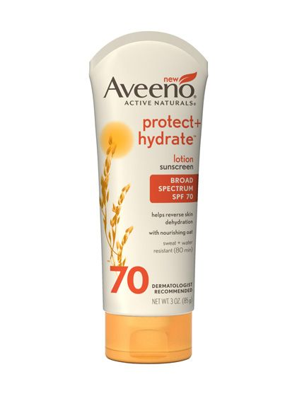 The 10 Best Sunscreens for Summer 2013: Skin Care: allure.com ** AVEENO PROTECT + HYDRATE LOTION SPF 70 ** A seriously hydrating sunscreen that helps coddle sun-, chlorine- and beach-dried skin, the formula is light despite the high SPF. Bonus: a light botanical fragrance.
