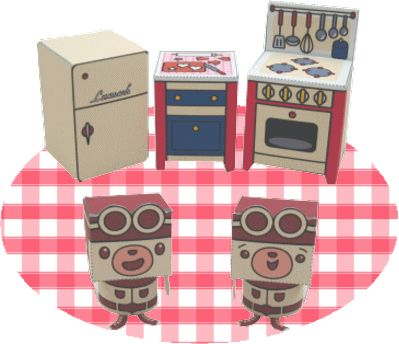 Casita de papel mobiliario miniaturas pinterest for Cocinas armables