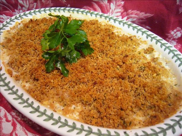 Seafood Newburg Casserole from Food.com: This is a recipe I found in one of the grocery store recipes booklets. It is very rich tasting and the sherry just gives it a great accent. Since I don't have easy access to fresh seafood, I used the canned crab and it was fine. Although I haven't tried it, I would feel comfortable using scallops or any shellfish to make this dish.
