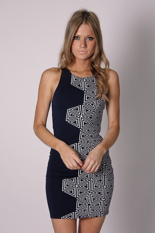 navy and white pattern: White Patterns, Bodycon Dresses, Clothing Esther, Cocktails Dresses, Patterns Cocktails, Clothing Clothing, Cocktail Dresses, Braveri Patterns, Dresses Length
