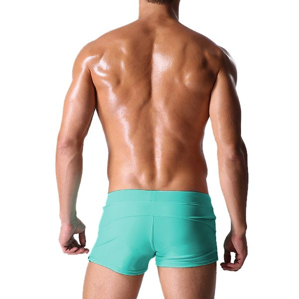 AUSTiNBEM Mens Solid Color Fashion Beach Swimming Zipper Pocket Beach Shorts Casual Trunks