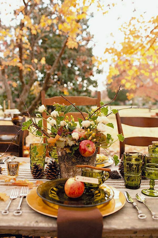 Beautiful banquet style Fall tablescape. Fall | decor | #HomeGoodsHappy: