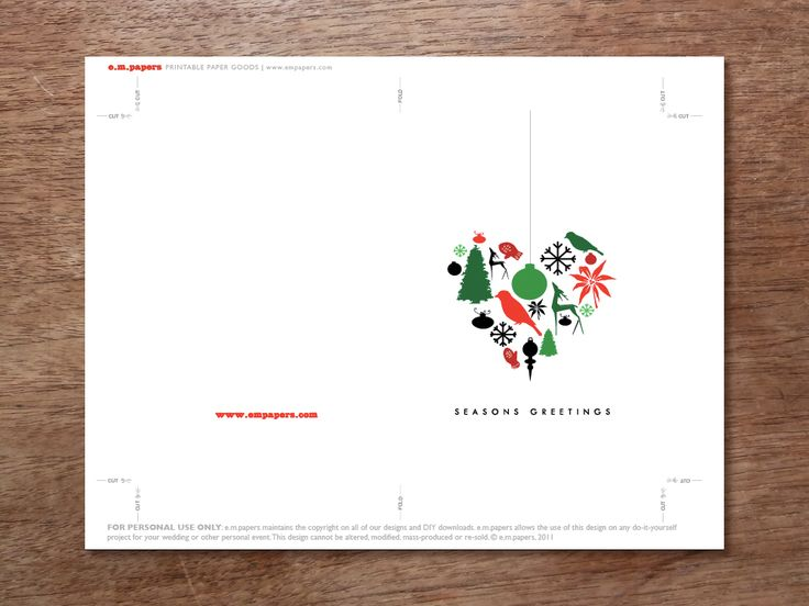 27 best Printable Christmas Cards images on Pinterest Printable - printable christmas card templates