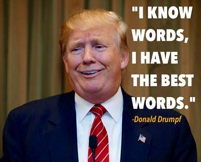 """This is what we all get after January 20. Let's see what """"best words"""" he'll have."""