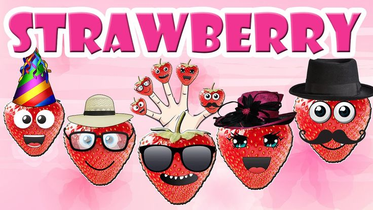 Finger Family Strawberry Family Nursery Rhyme | Strawberry Shortcake Nur...