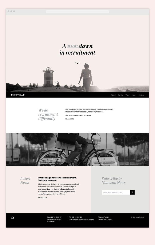 Shorthand | Nouveau Recruitment Responsive Website Design | Newcastle, Australia