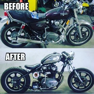 By @loconoelocol #throwback to a #build #xs650project #beforeandafter of an #xs650 I #morphed into a #caferacer…'