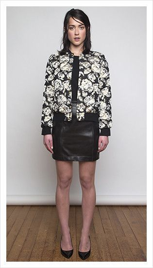 vinny bomber, maxwell blouse & tony skirt | winter 2014 collection | juliette hogan