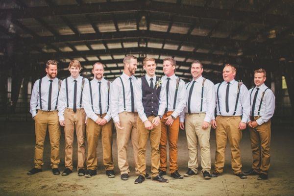 Groomsmen in Suspenders | Love Out Loud Studios | Gorgeous Rustic Bohemian Wedding in Vancouver