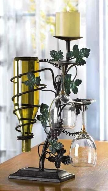 Grapevine Candleholder and Wine Rack