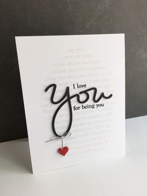 """I LOVE this new set of stamps and die from Simon Says Stamp's Stamptember® release, YOU ... they all combine for one amazing must have sets!! I love the coordinating sentiments that go with this """"Yo"""