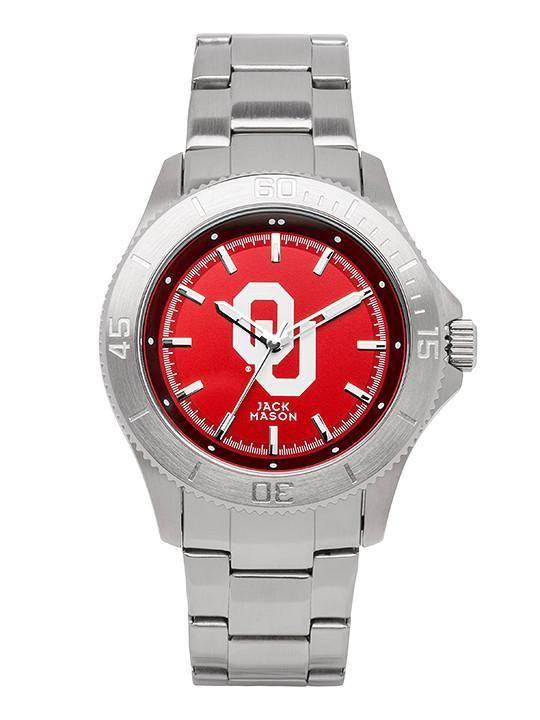 Oklahoma Sooners Sport Bracelet Team Color Dial Watch by Jack Mason