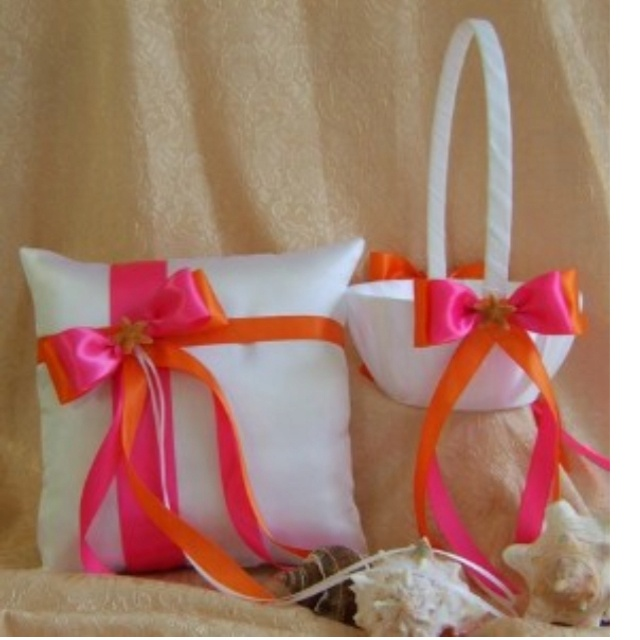 Flower basket and ring bearer pillow!
