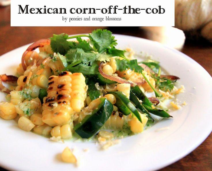 Mexican-style Corn with Serrano Crema | Mexican style corn, Blossoms ...