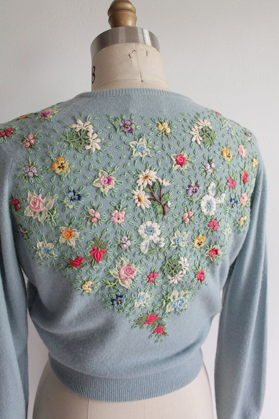 Vaux Vintage/Love this with all beading and embroidery on back*