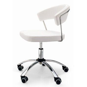 Calligaris New York Swivel White Office Chair
