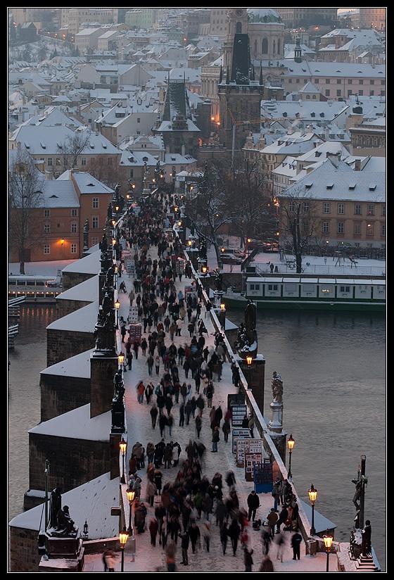 Praga durante l'inverso