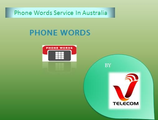 Phone words service in Australia helps people to remember your brand name. Use phones words with 1300 and 1800 numbers in Australia and know how phone words work. Visit us: https://www.vtelecom.com.au/1300-1800-phone-words/