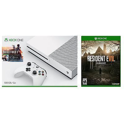 Xbox One S 500 GB Console - Battlefield 1 Bundle Plus Extra game Resident Evil 7 #LavaHot http://www.lavahotdeals.com/us/cheap/xbox-500-gb-console-battlefield-1-bundle-extra/184932?utm_source=pinterest&utm_medium=rss&utm_campaign=at_lavahotdealsus