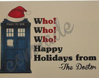 Doctor Who Christmas card - card di auguri - Tardis - divertente - Geek - nerd