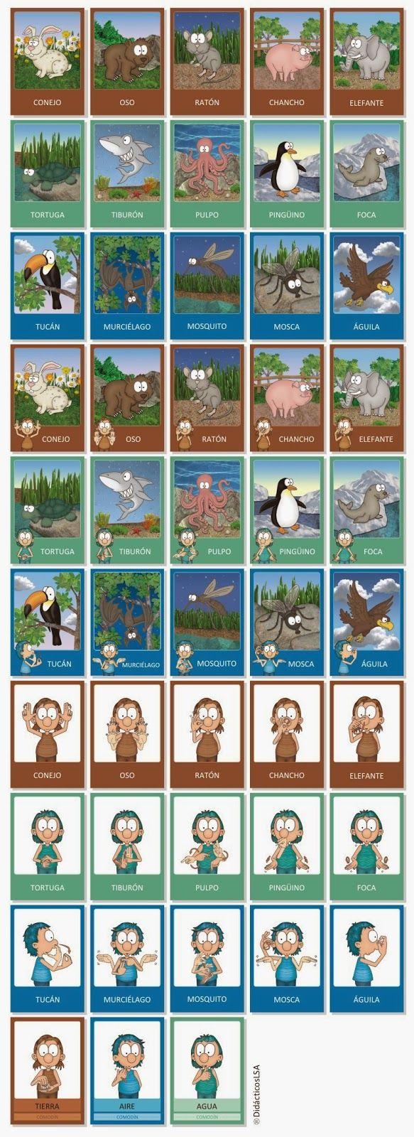 cartas_animales_didacticosLSA_lengua_senas_argentina_signos_LSA.jpg (583×1600)