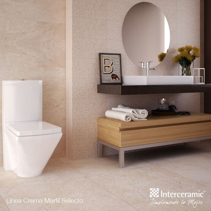 Crema Marfil Selecto #Interceramic  Baños  Pinterest