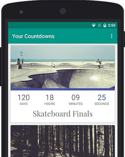 Countdown App by timeanddate.com - for Android