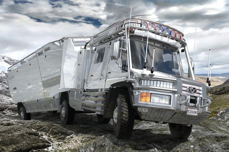 The KiraVan rolls over obstacles for 3,200 km.