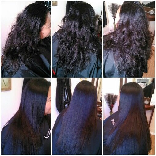 Permanent straightening with Matrix Opti-Smooth before and after