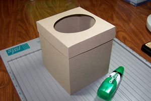 cover a tissue box - entire easy to follow tutorial with measurements at this link.