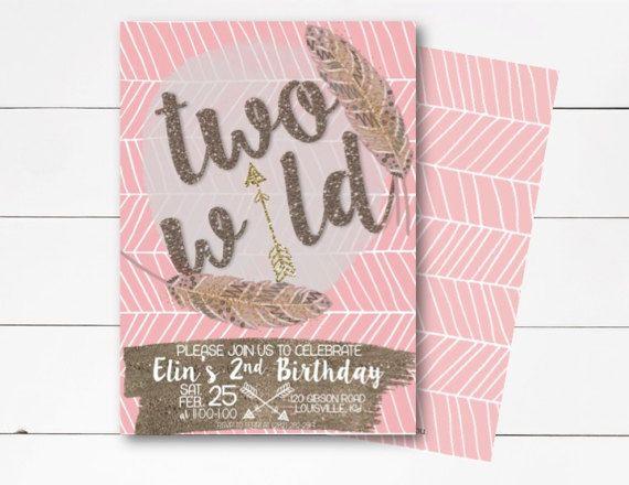 Two Wild Birthday Invitation Aztec Birthday Invitation