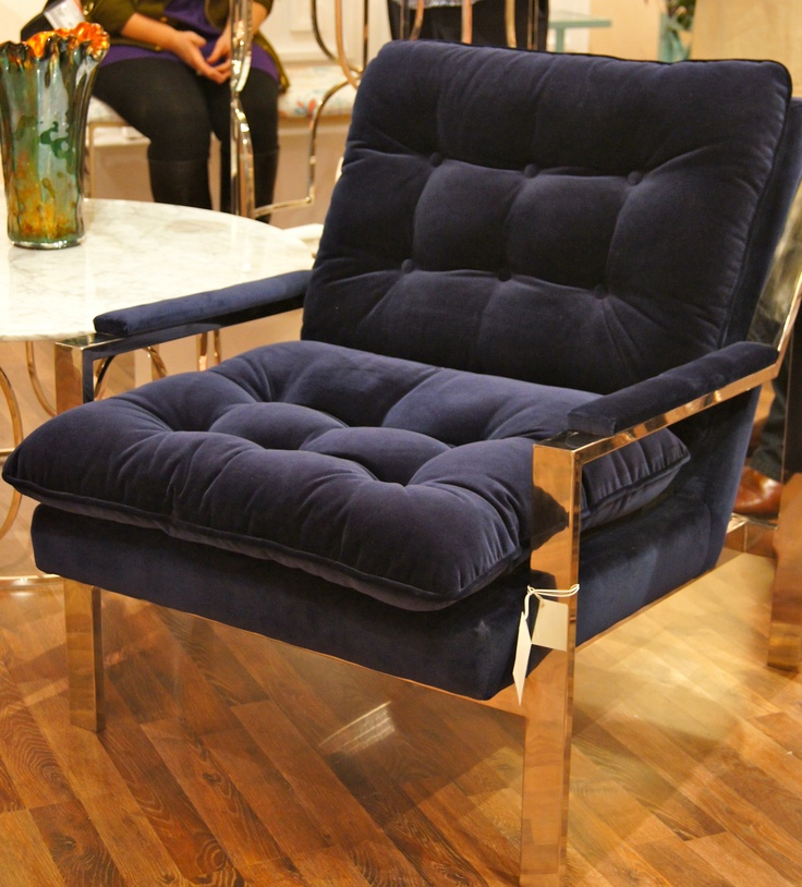 Click to view larger worlds away cameron in navy velvet for Cameron tufted chaise