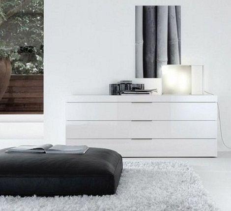 Jesse Nap ladekast wit hoogglans met top 70 mm. 4 laden, 3 laden, 125 cm. breed,noten,eiken,lak mat,hoogglans.