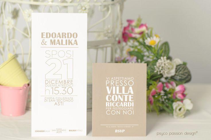 Invito matrimonio - Psyco Passion Design - http://www.psycopassiondesign.com/speciale-matrimonio