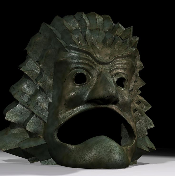 La tête monumentale, entrée du labyrinthe.