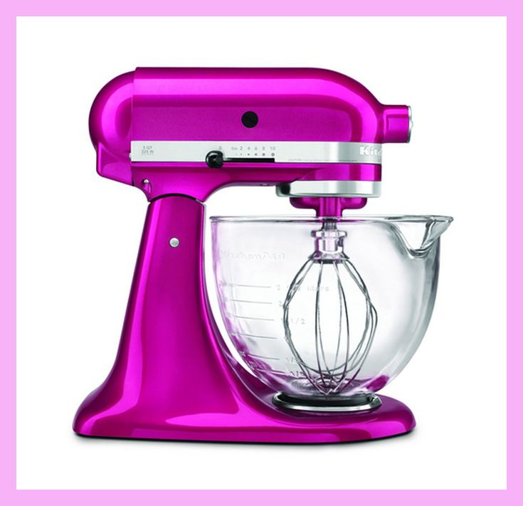 Love this bright KitchenAid mixer for Mom