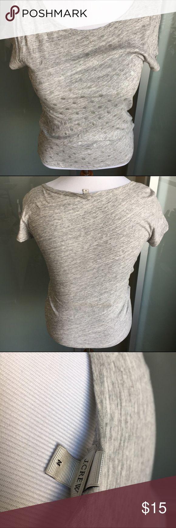 J Crew polka dot t-shirt Shirt with subtle silver polka dots J. Crew Tops Tees - Short Sleeve