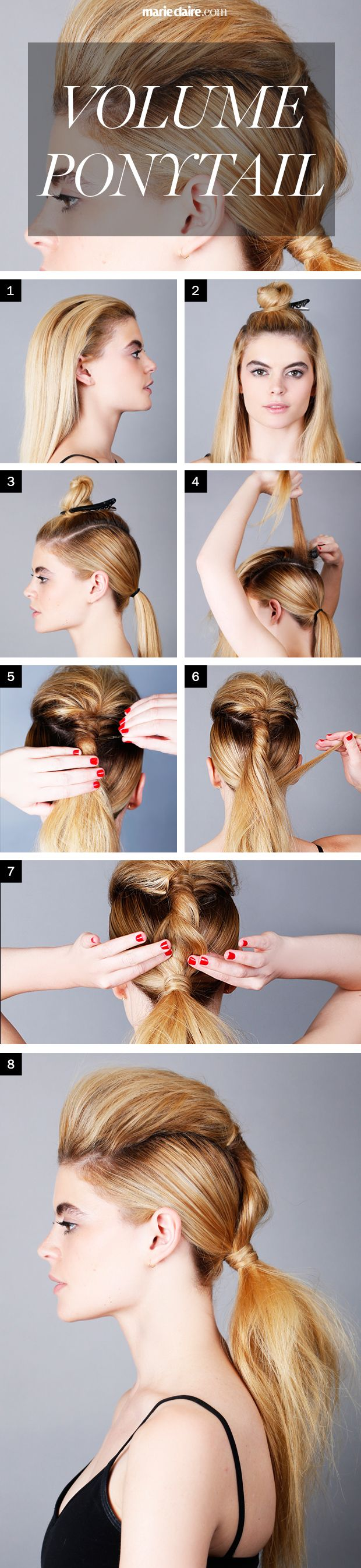 Hair How-To: A Badass Volume Ponytail  - MarieClaire.com
