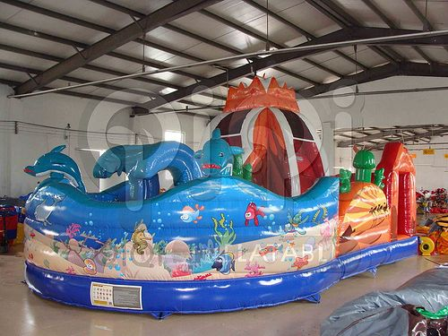 Inflatable Volcano And Ocean Playground 02 Inflatable